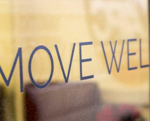 Move well sign, London Wellness