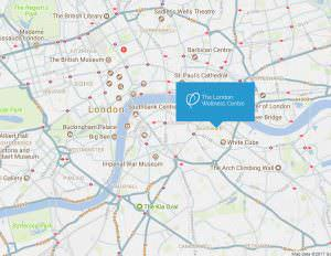 Map showing location of London Wellness Centre chiropractor in London Bridge