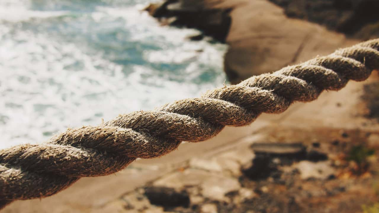 Rope on a beach