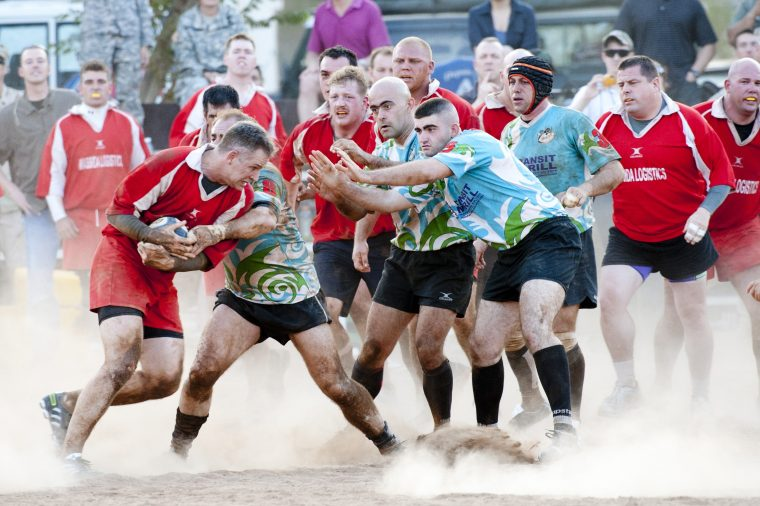 Mens rugby game